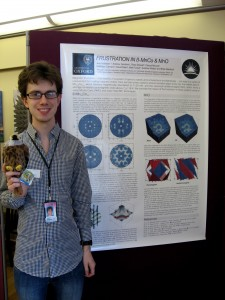 Joe Paddison with his prize winning poster