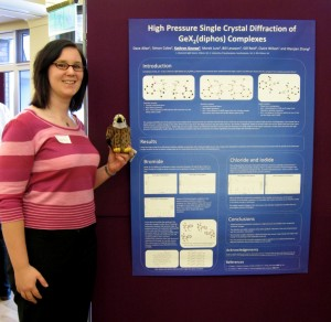 Kathryn George with her prize winning poster