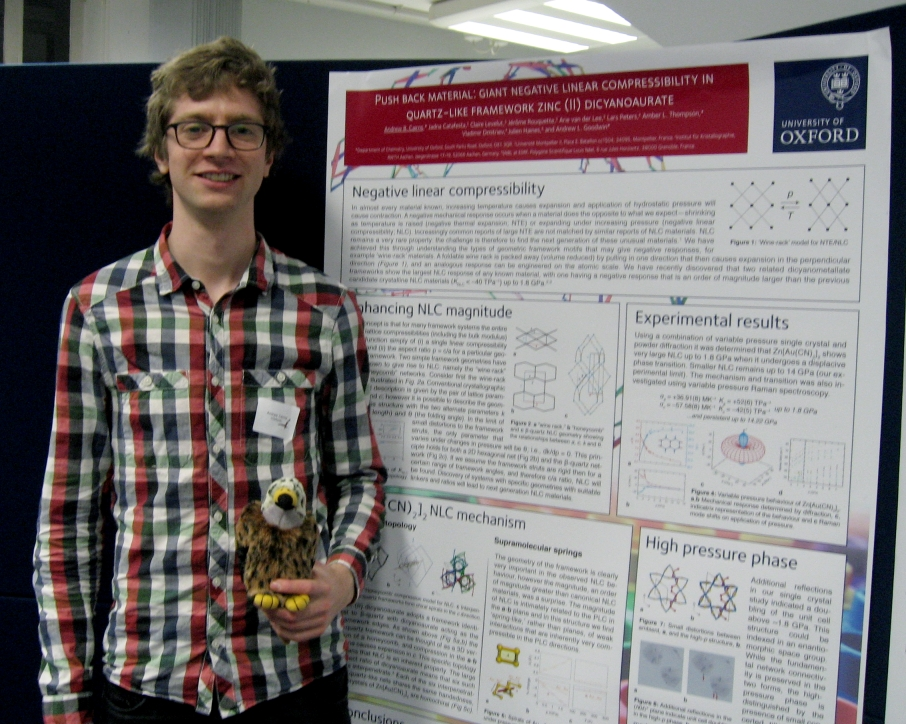 Andrew Cairns and his Poster